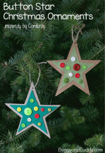 Holiday Craft Ideas for Kids Button Star ornament