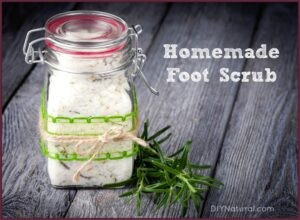 Homemade Foot Scrub in a Jar