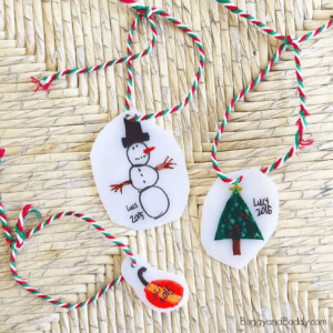 Kid Made Ornaments with Shrink Film