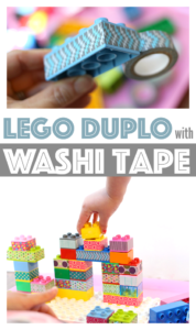 Lego Duplo Washi Tape to Spruce up Lego fun