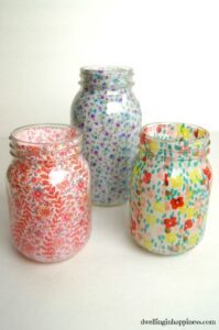 Pretty Mason Jar Vase gift idea
