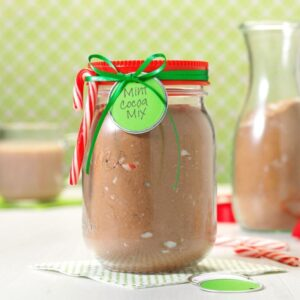 Mint Cocoa Mix in a Jar