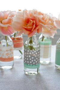 Vase with Washi Tape