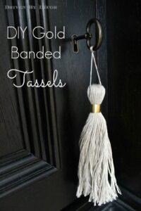 Gold Banded Tassel