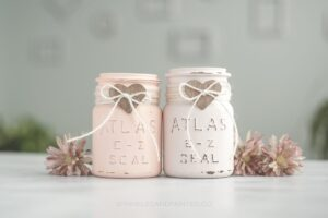 Vintage mason Jar Gift with Heart