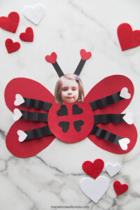 Ladybug Valentines with child's picture as face