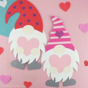 Gnome Valentines Day Craft, DIY Gnome Valentine