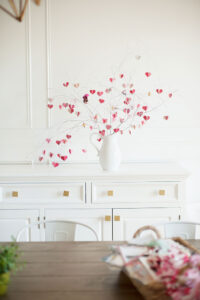 Valentines Tree with hearts and painted branches